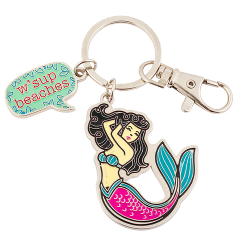 ENAMEL KEY CHAIN MERMAID (S18)