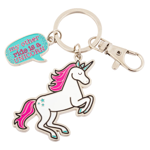 ENAMEL KEY CHAIN UNICORN (S18)