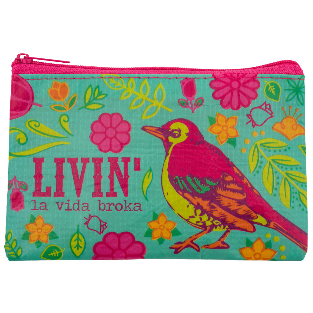 RECYCLED COIN PURSE BIRD (S18)
