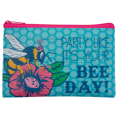 RECYCLED COIN PURSE BEE (S18)
