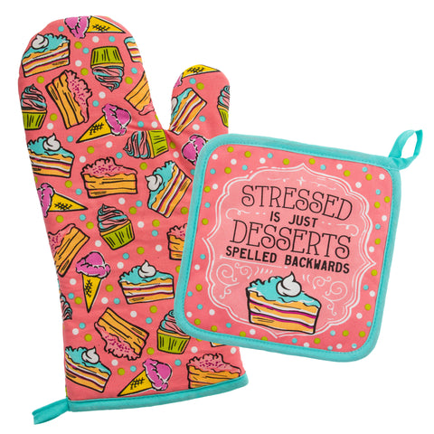 OVEN MITT & POT HOLDER CAKE (F18)