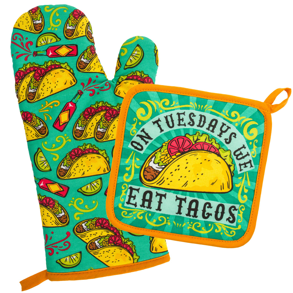 OVEN MITT & POT HOLDER TACOS (F18)