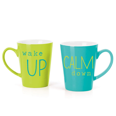 MUG BOX SET  TEAL/GREEN CALM