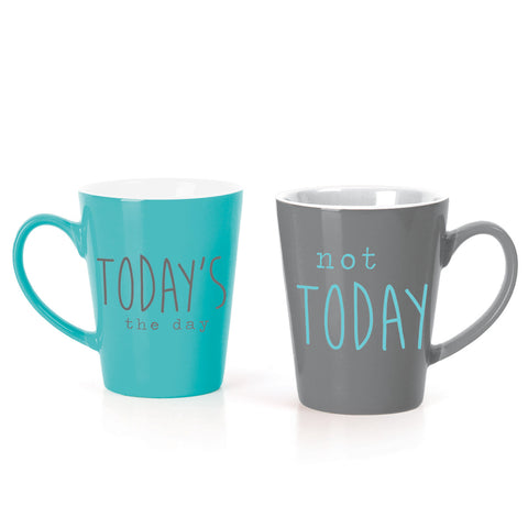 MUG BOX SET  TEAL/CHARCOAL TODAY
