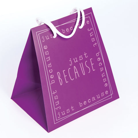 GIFT BAG LARGE  PURPLE/BECAUSE