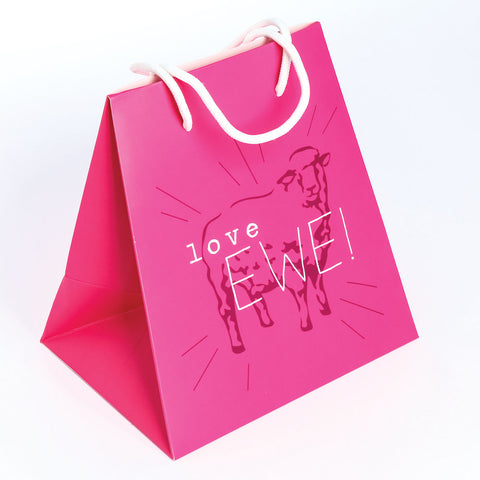 GIFT BAG LARGE  PINK/SHEEP