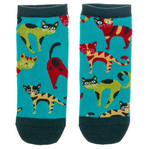 ANKLE SOCKS BLUE CAT (S19)