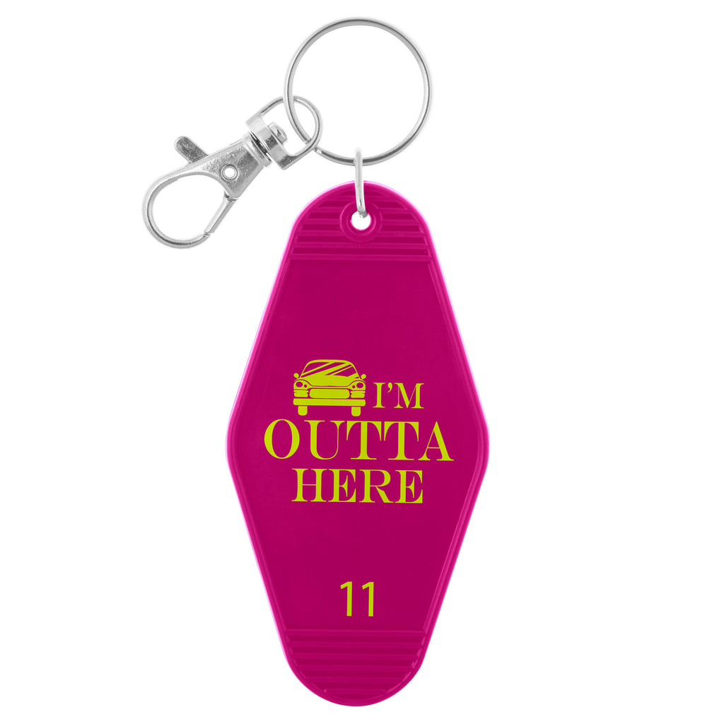 HOTEL KEY CHAIN OUTTA HERE(S19)