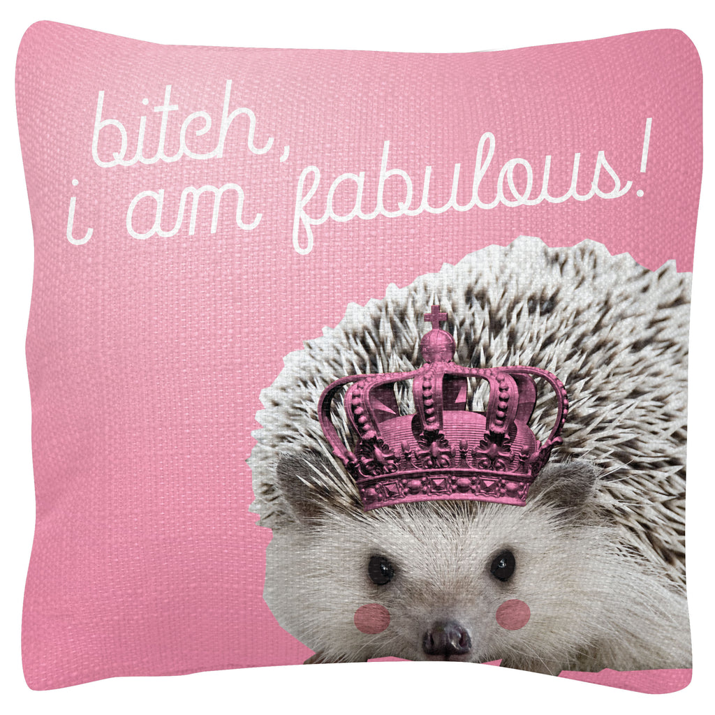 SQUARE PILLOW HEDGEHOG (F19)