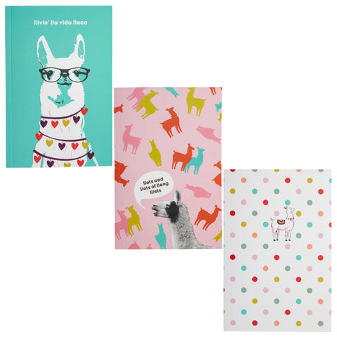 NOTEBOOK SET OF 3 LLAMA (F19)