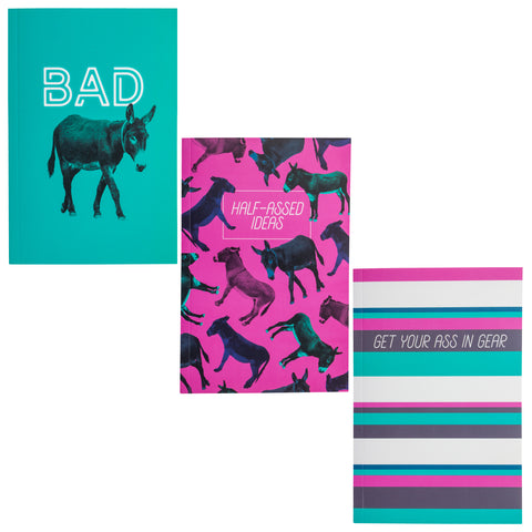 NOTEBOOK SET OF 3 DONKEY (F19)