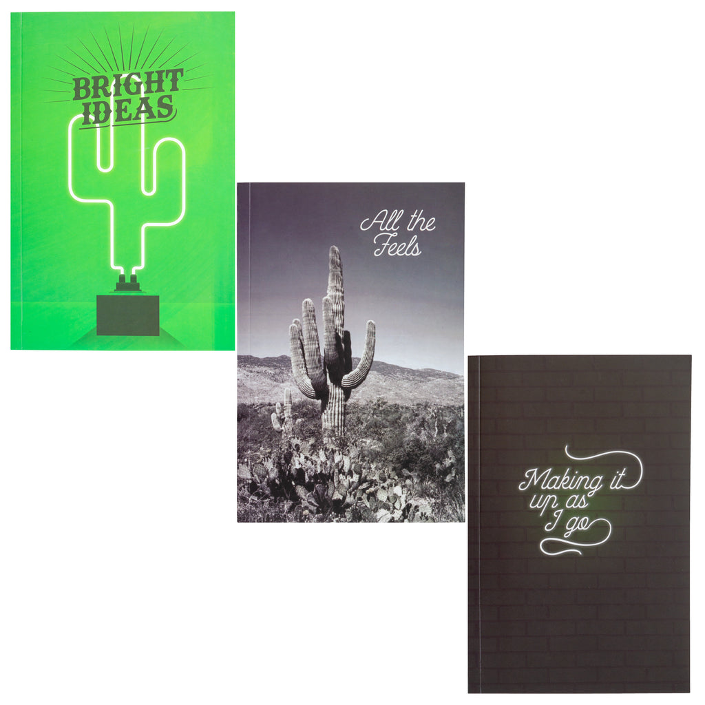 NOTEBOOK SET OF 3 CACTUS (F19)