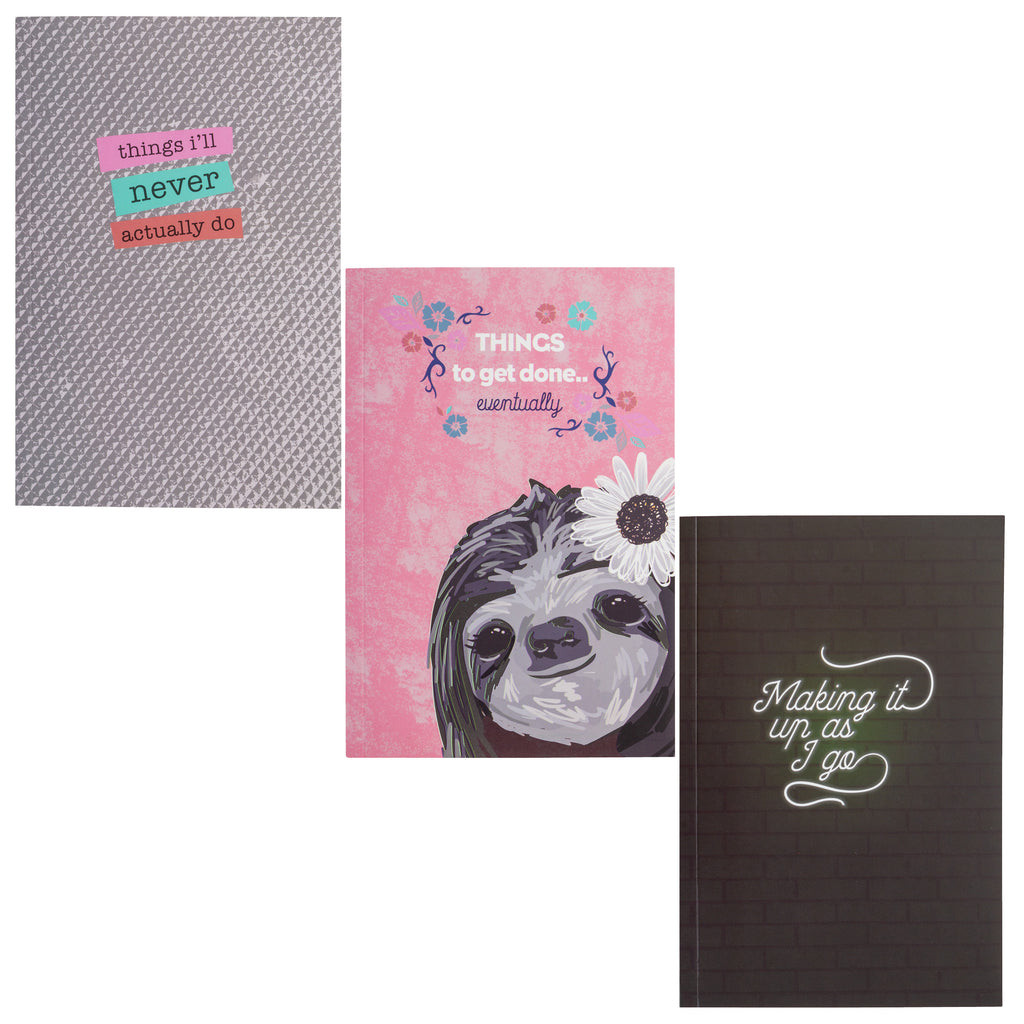 NOTEBOOK SET OF 3 SLOTH (F19)