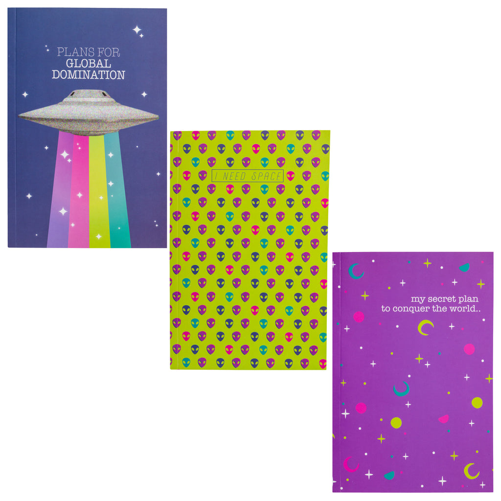 NOTEBOOK SET OF 3 UFO (F19)