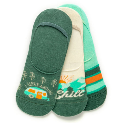 NO SHOW SOCK SET OF 3 CHILL OUT (S20)