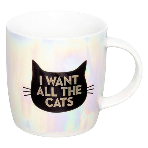 IRIDESCENT MUG CAT (F19)