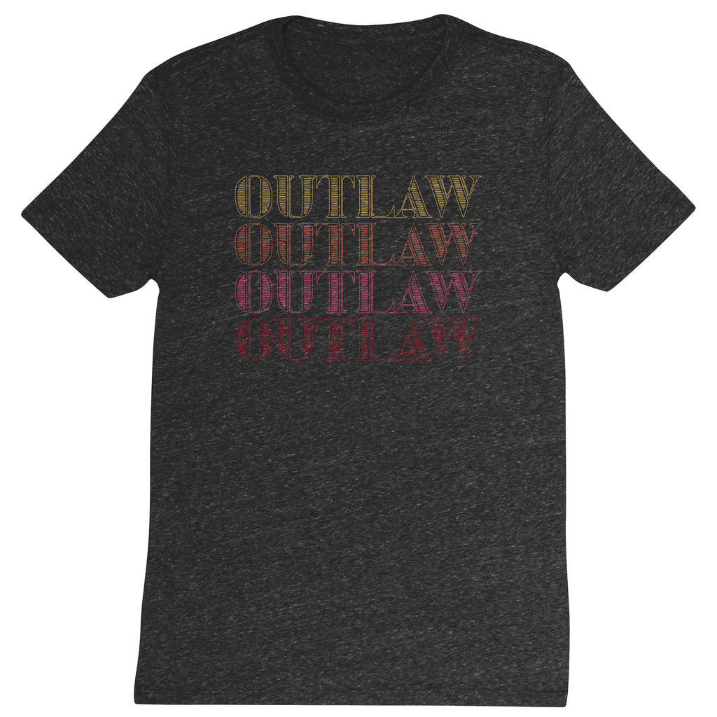 DISTRESSED T SHIRT OUTLAW (F19)
