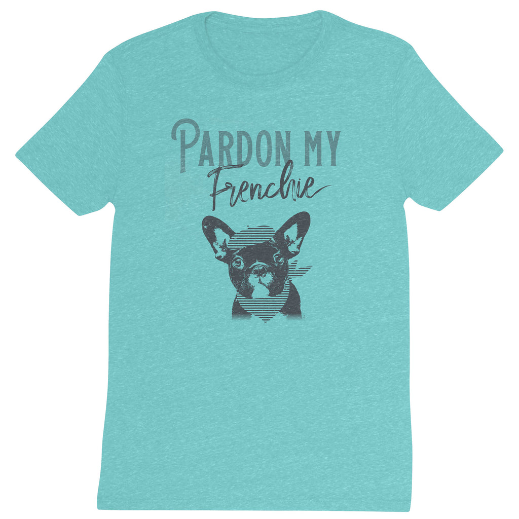 DISTRESSED T SHIRT PARDON MY FRENCHIE (F19)