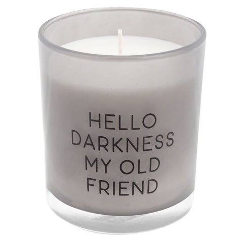 CANDLE HELLO DARKNESS (WILD FIG) (S20)