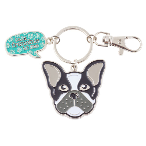 ENAMEL KEY CHAIN DOG (S19)