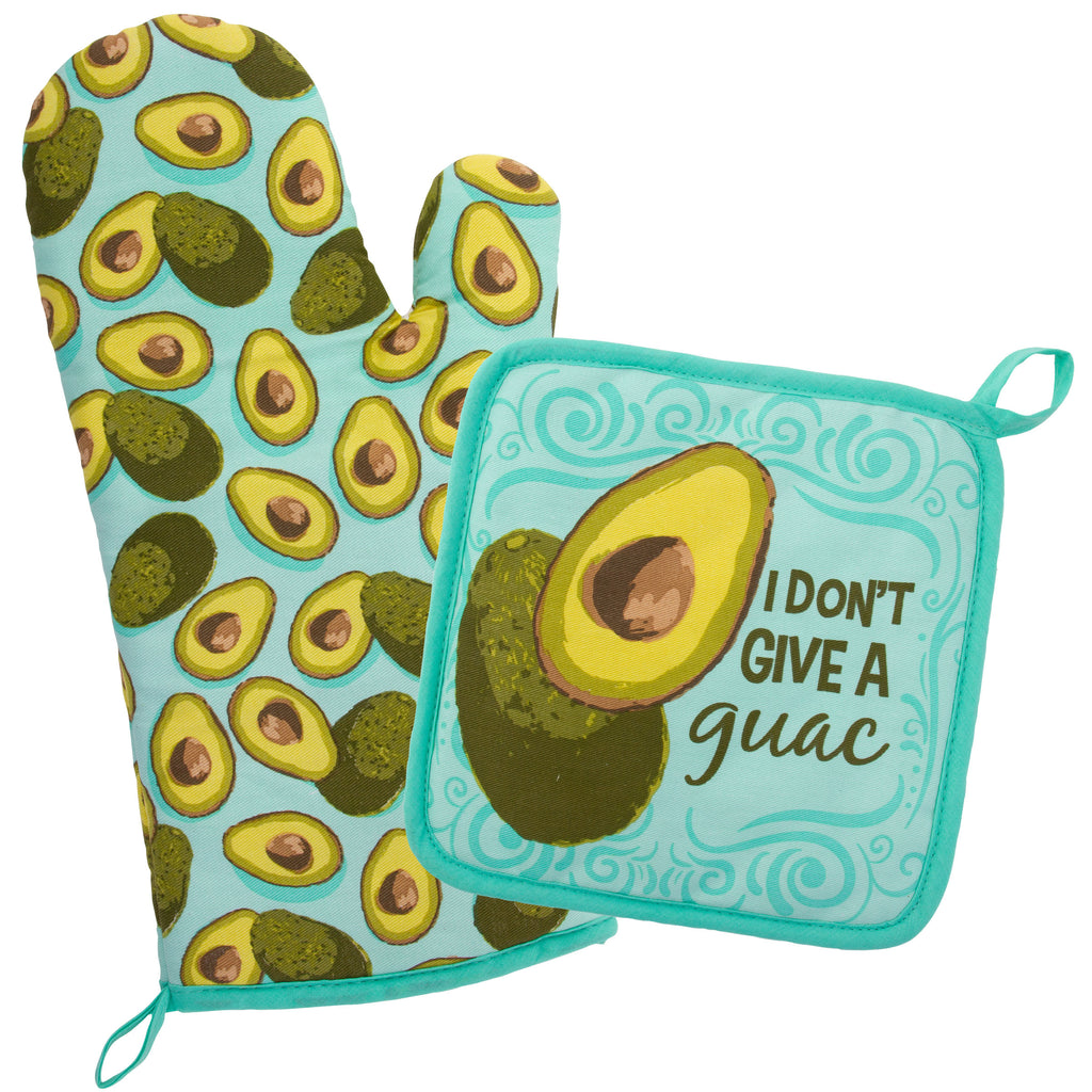 OVEN MITT & POT HOLDER AVOCADO (F19)