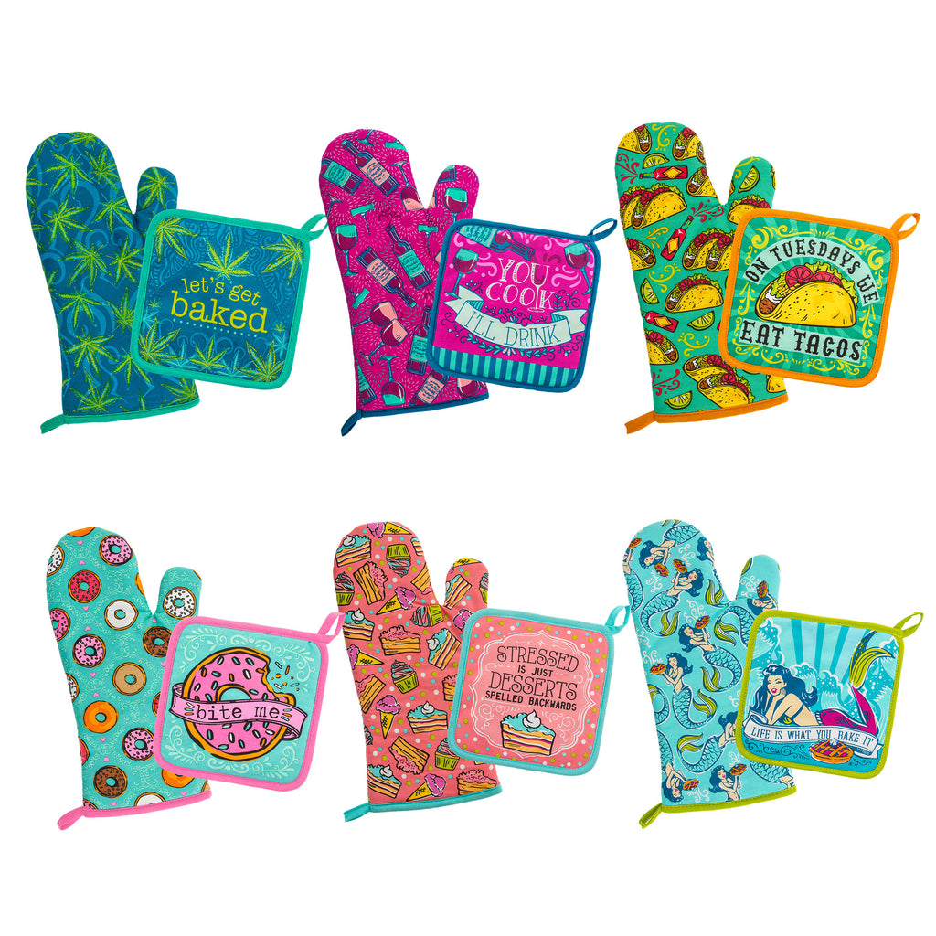 OVEN MITT & POT HOLDER ASSORTMENT