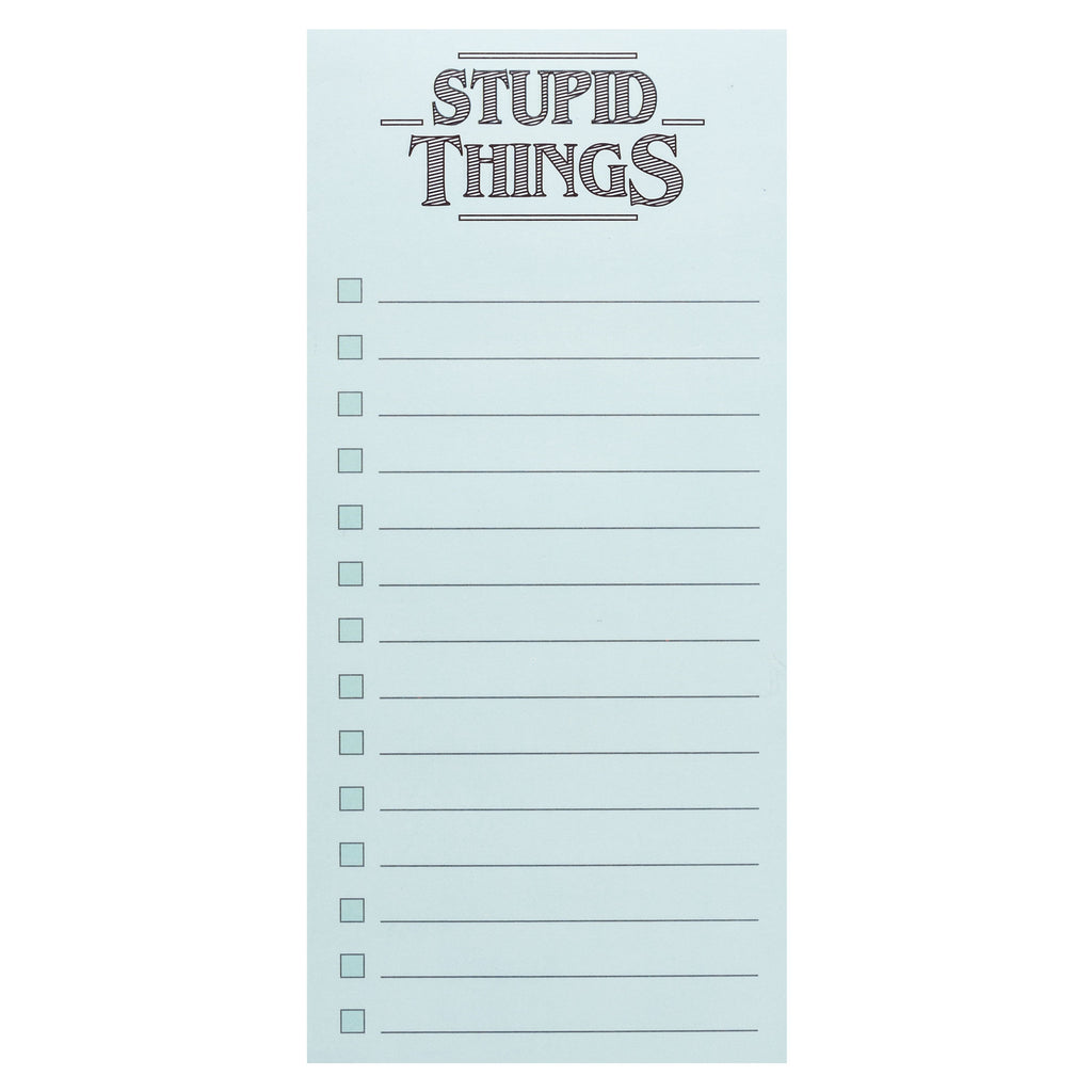 MAGNETIC NOTEPAD STUPID THINGS (S20)