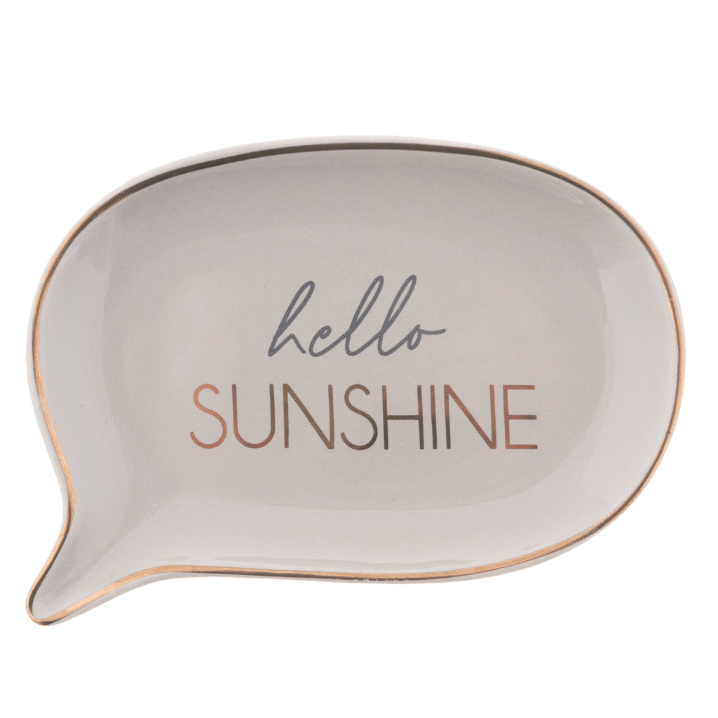 TRINKET TRAY HELLO SUNSHINE (S20)