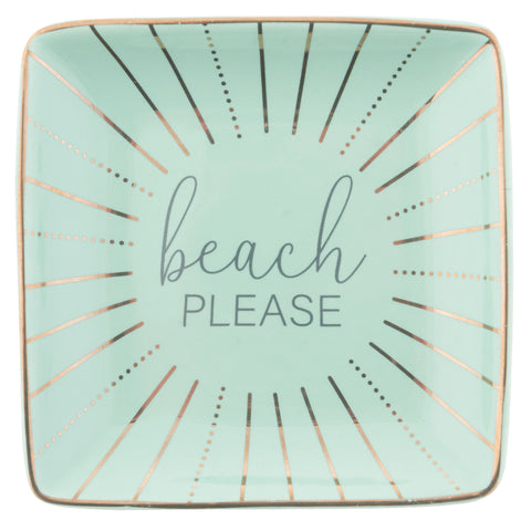 TRINKET TRAY BEACH PLEASE - SQUARE (S20)
