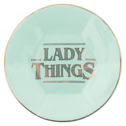 TRINKET TRAY  LADY THINGS - ROUND (S20)