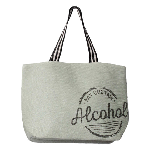 STRAW BEACH TOTE ALCOHOL (S20)