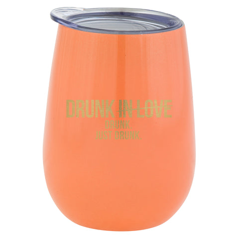 WINE TUMBLER JUST DRUNK  CORAL (S20)