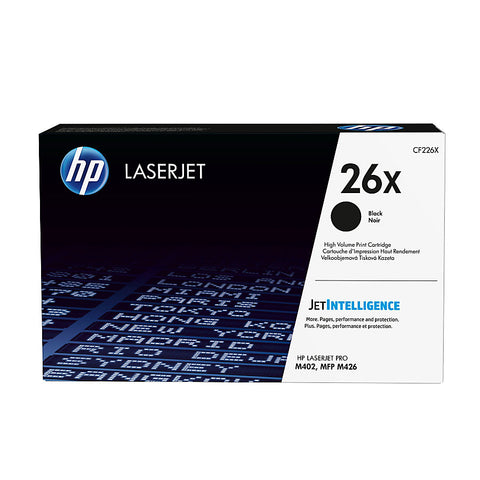 HP 26X (CF226X) LaserJet Pro M402 MFP M426 High Yield Black Original LaserJet Toner Cartridge (9000 Yield)