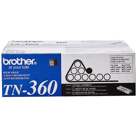 Brother DCP-7030 7040 HL-2140 2170W MFC-7340 7345N 7440N 7840W High Yield Toner Cartridge (2600 Yield)
