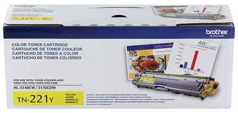 Brother HL-3140CW 3170CDW 3180CDW MFC-9130CW 9330CDW 9340CDW Yellow Toner Cartridge (1400 Yield)