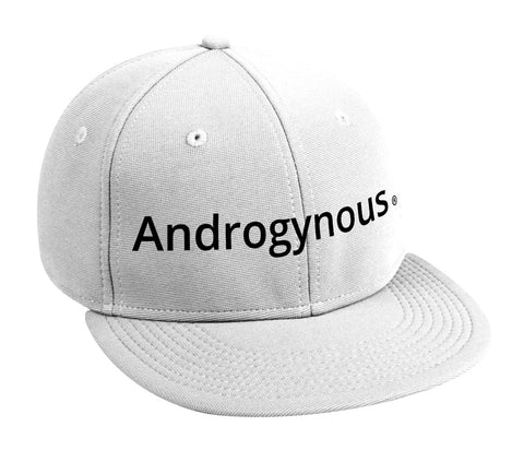 ANDROGYNOUS BLACK ON WHITE PRINTED-6 PANEL - COTTON CAP