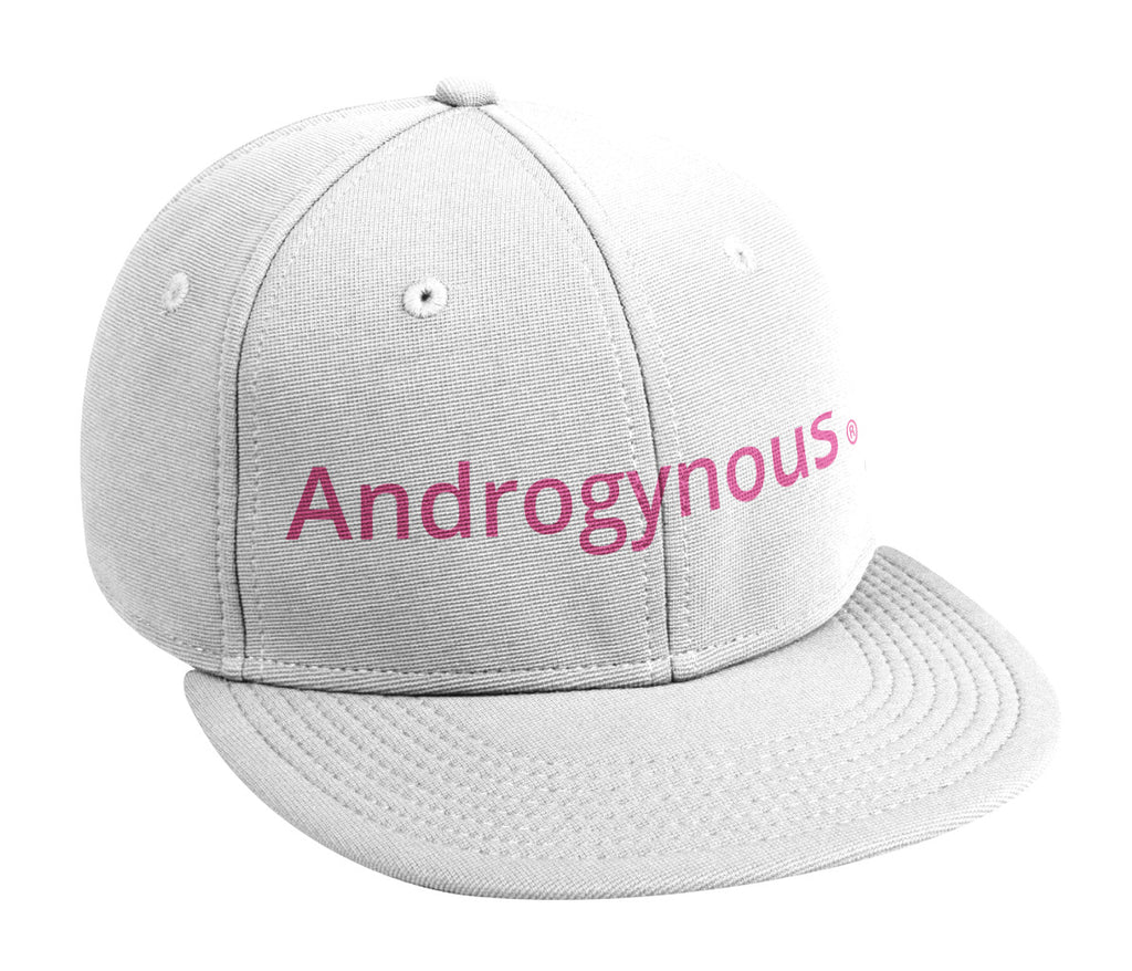 ANDROGYNOUS PINK ON WHITE PRINTED -6 PANEL - COTTON CAP