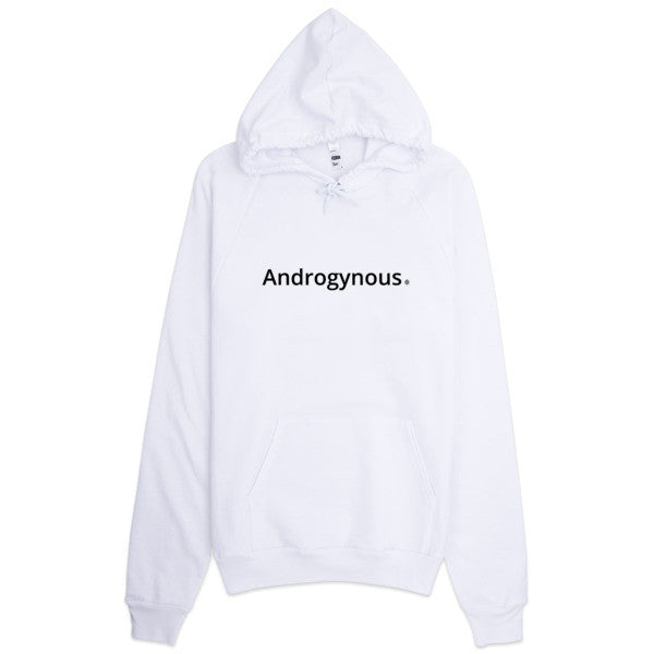 ANDROGYNOUS BLACK ON WHITE PRINTED RINGSPUN  COTTON- HOODIE