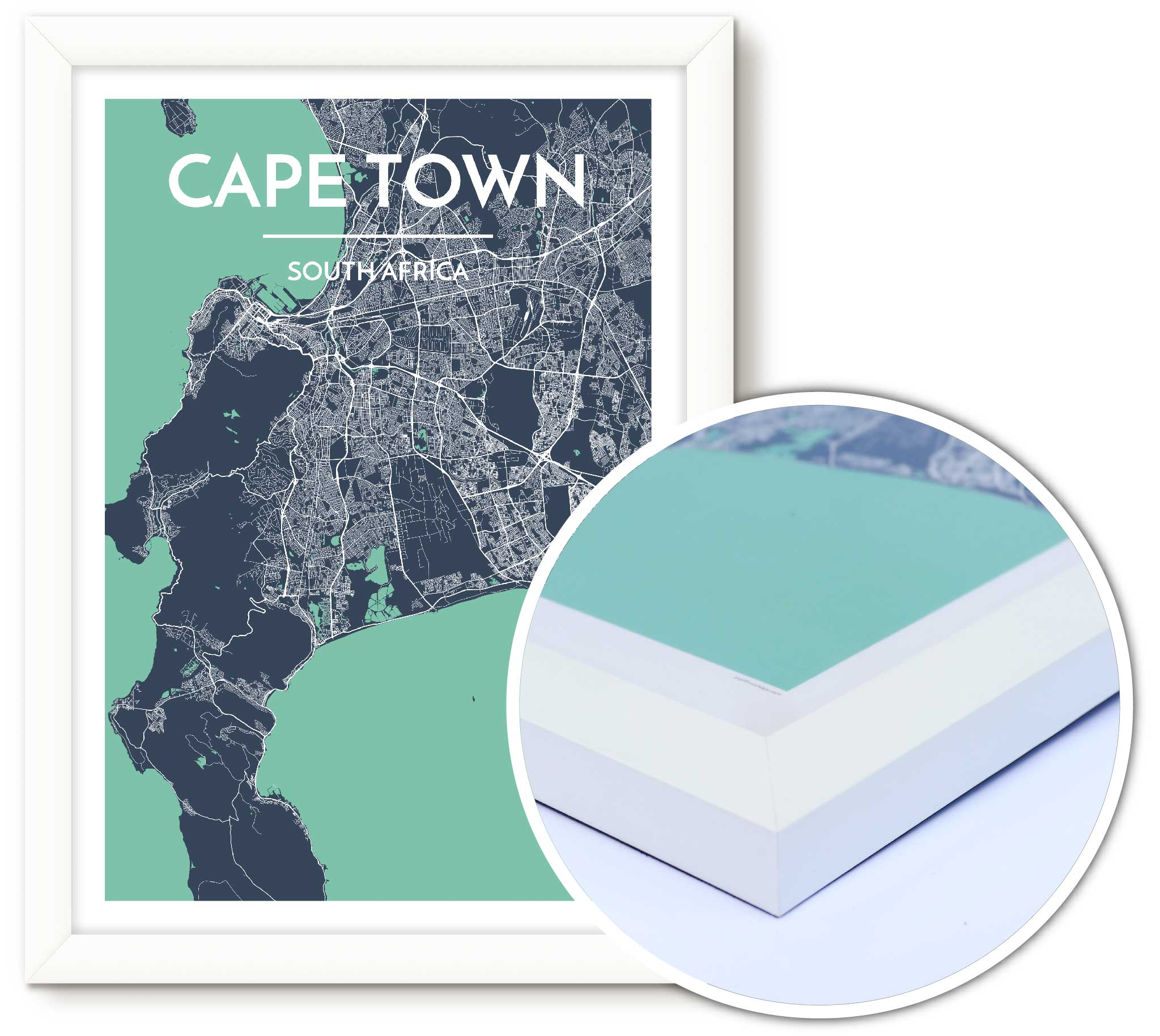 Framing Your Point Two Maps City Map Prints All You Need To Know - Custom framed maps