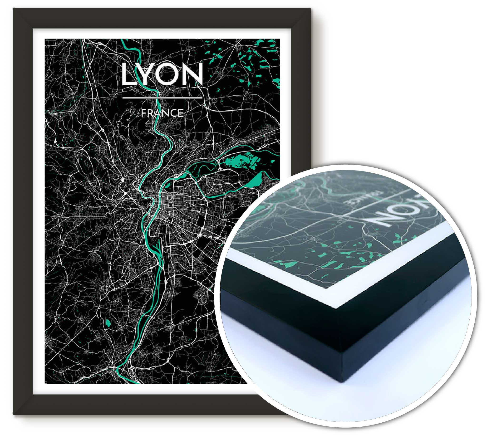 Beirut City Map Print Starting Free Shipping Options Point - Custom framed maps