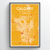 Calgary City Map Print street wall art