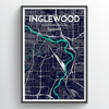 Calgary - Inglewood Neighborhood Map Art