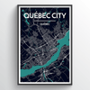 QUEBEC CITY MAP Print street wall art