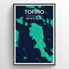 Tofino City Map Print street wall art