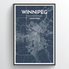 Winnipeg City Map Print street wall art