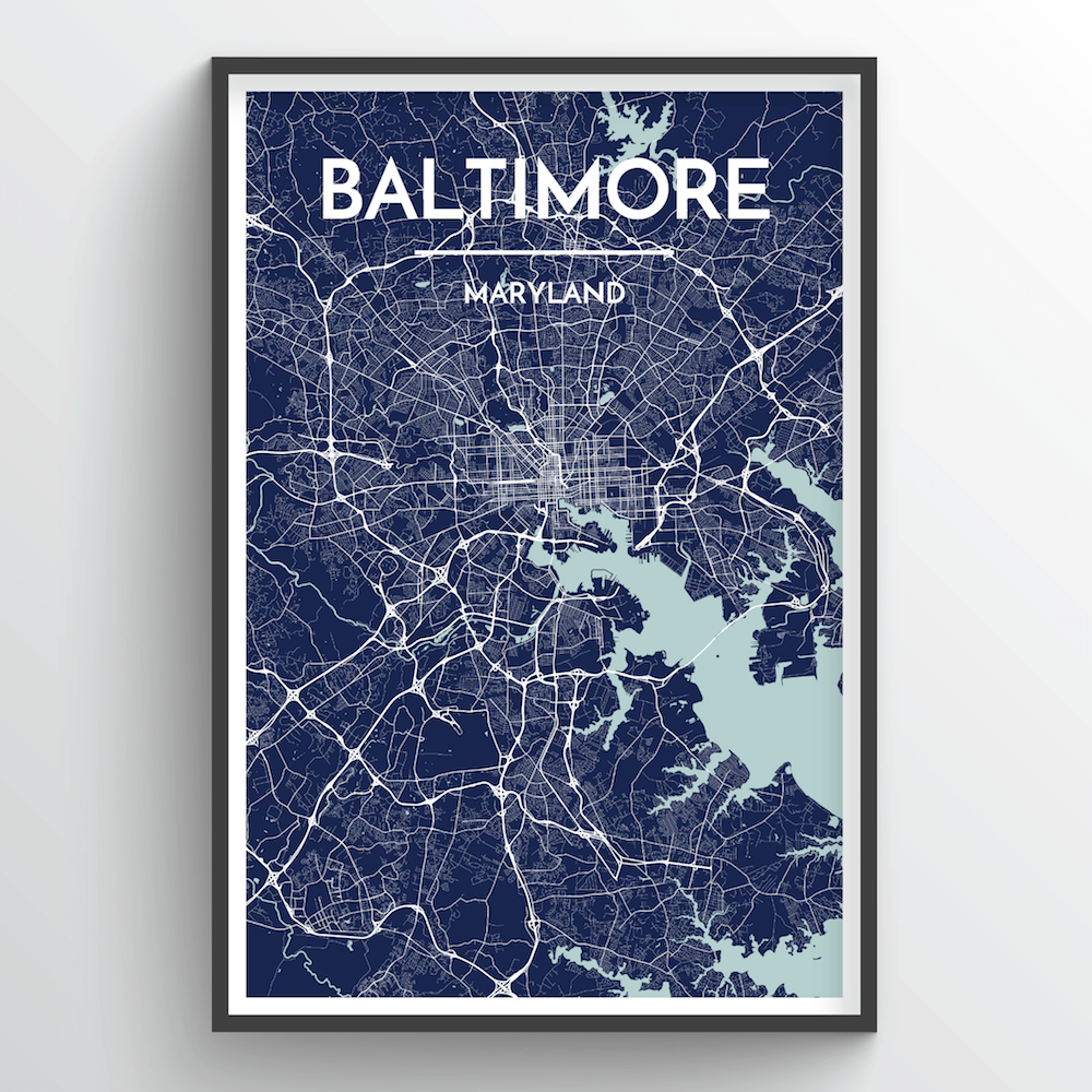 City map prints point two design baltimore city map gumiabroncs Images