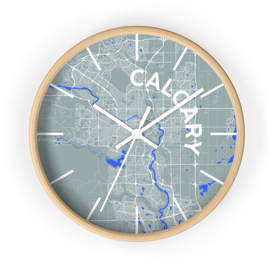 Calgary City Map Wall CLock