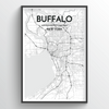 Buffalo Map Art