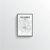 Columbus Map Art
