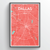 Dallas Map Art
